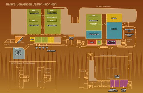 Riviera Floorplan for DEFCON 16